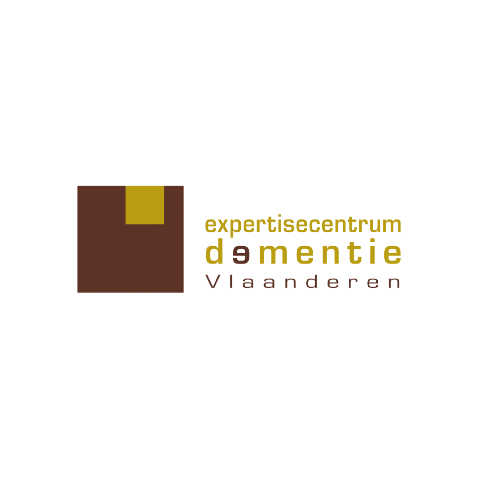 Logo Expertisecentrum Dementie Vlaanderen (brown and gold)