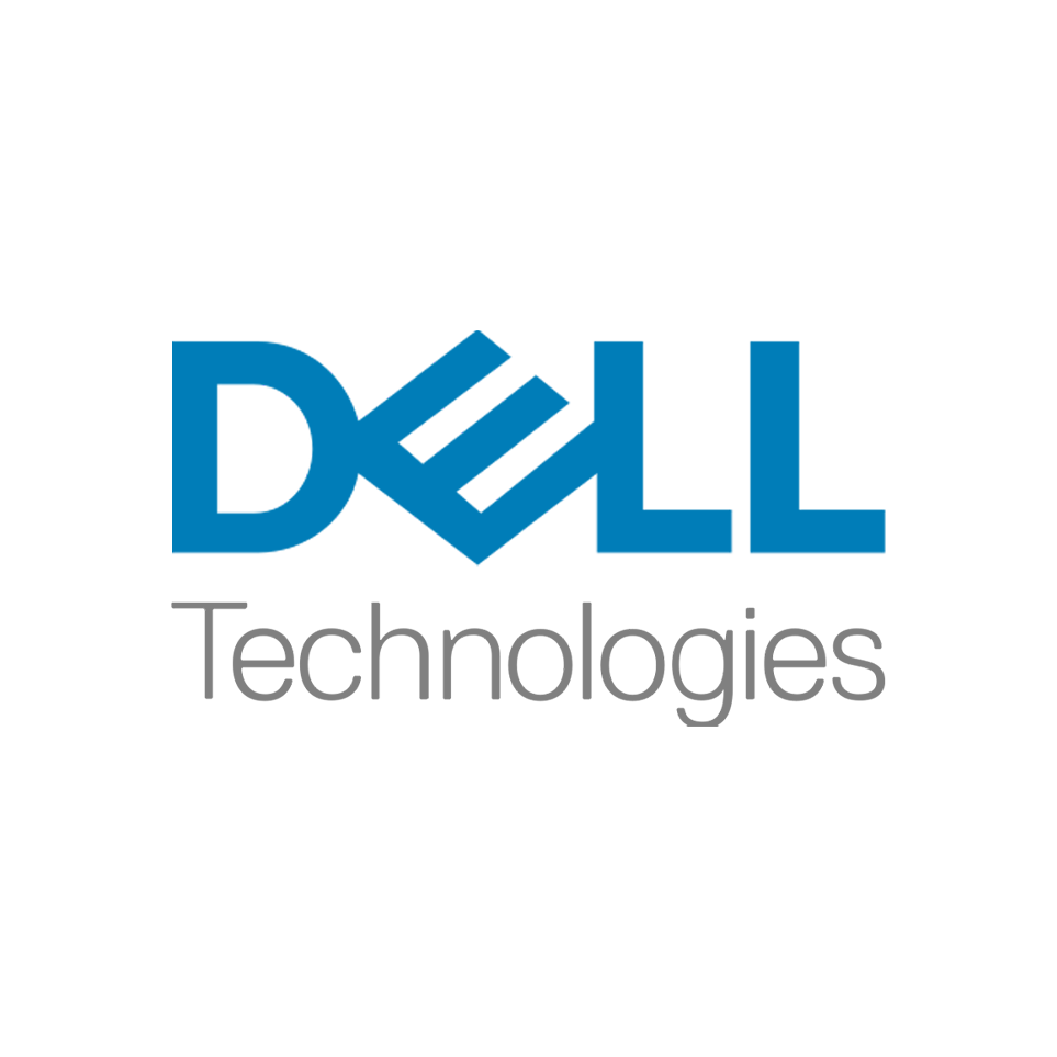 Logo Dell (light blue) Technologies (light grey)